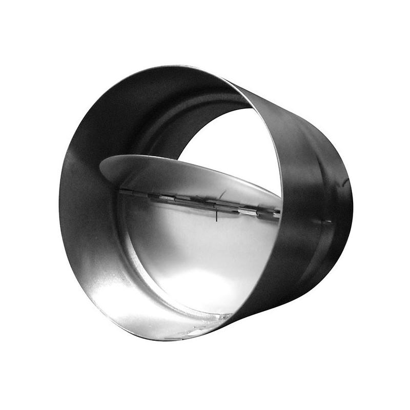 Clapet anti-retour 254mm métal , conduit de ventilation