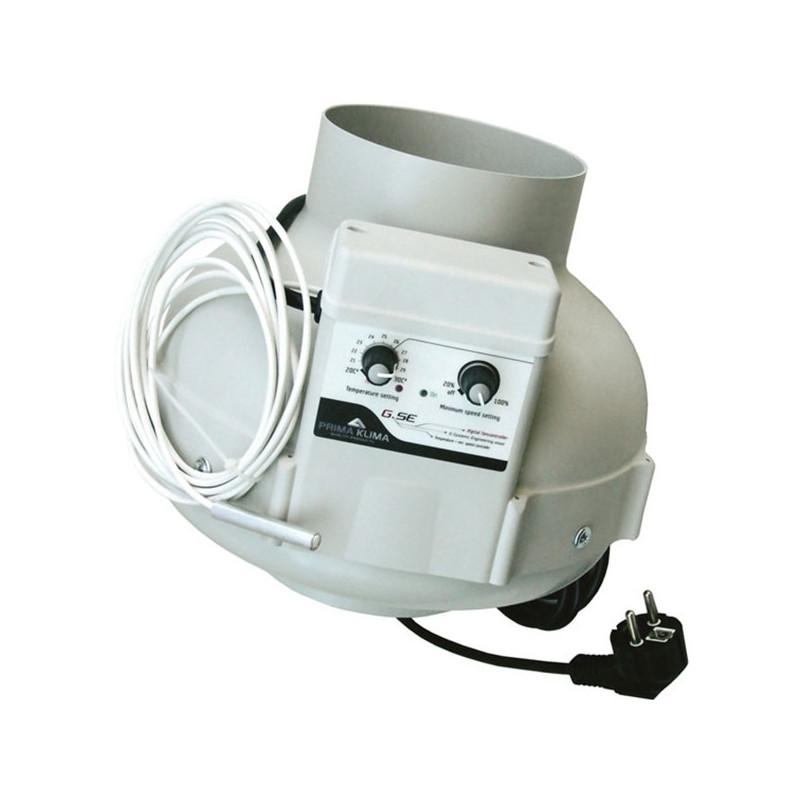 Prima klima - Extracteur d'air PK 160-TC Thermostat et variateur GSE intégré 800M³/H