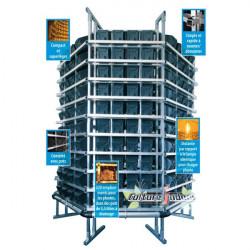 système de culture hydroponique vertical PI-RACK 215 x 220 cm , PI-technics