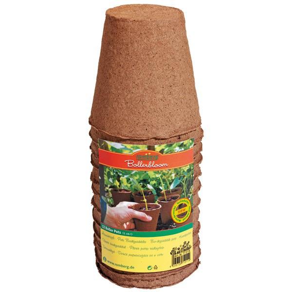 Lot de 12 pots ronds biodégradables 11 cm , semis , bouturage
