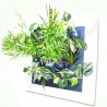 Tableau végétal FLOWALL cadre blanc