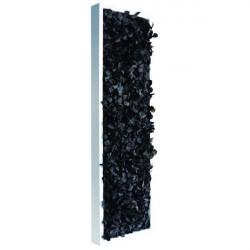 tableau végétal stabilisé slim flower Noir 60x18cm