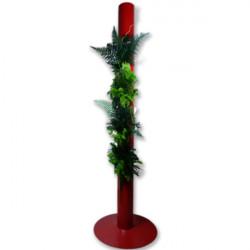 FlowerBox stabilisé totem 200cm rouge