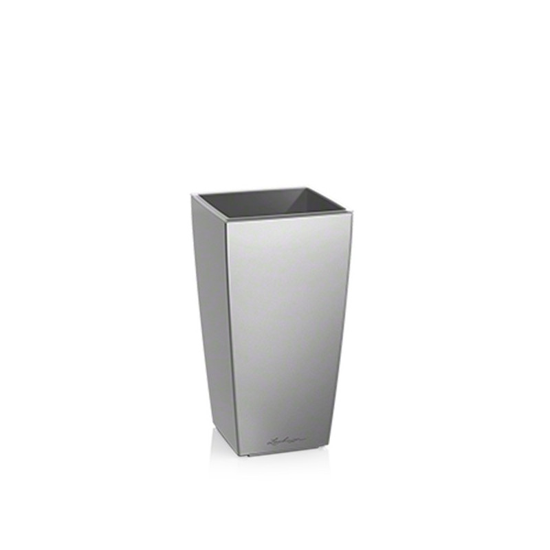 Pot Lechuzza Mini Cubi 9 argent , pot hydroponique , pot à réserve
