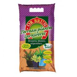OR BRUN TERREAU PLANTES CARNIVORES 5L , terre pour plantes carnivores