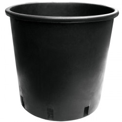 Pot rond noir rond 25L 35x30x27 cm