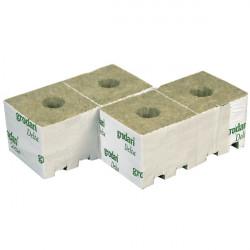 Cubes laine de roche 10X10X6,5cm /10 cubes
