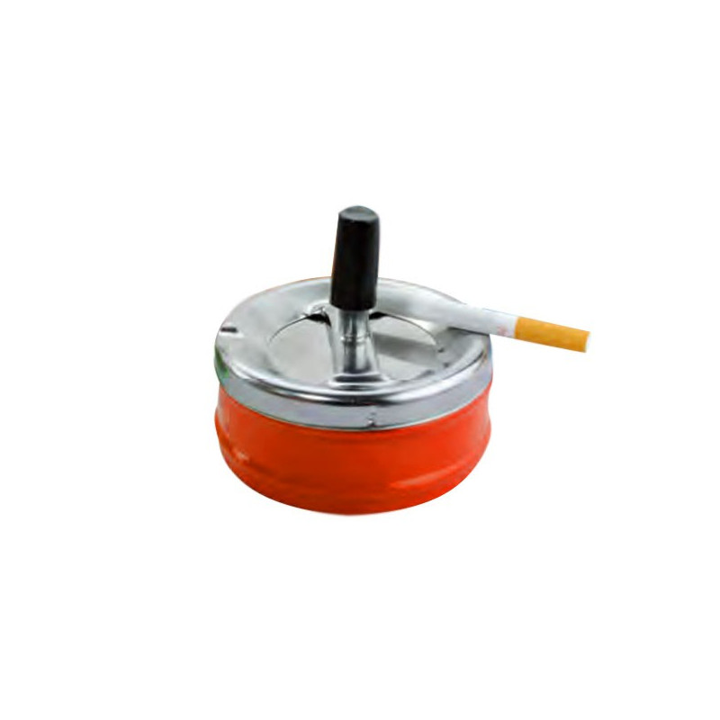 CENDRIER POUSSOIR ROND DIAM.9CM DL-6 - ORANGE