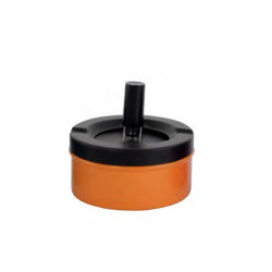 CENDRIER POUSSOIR NOIR DL-12 - ORANGE