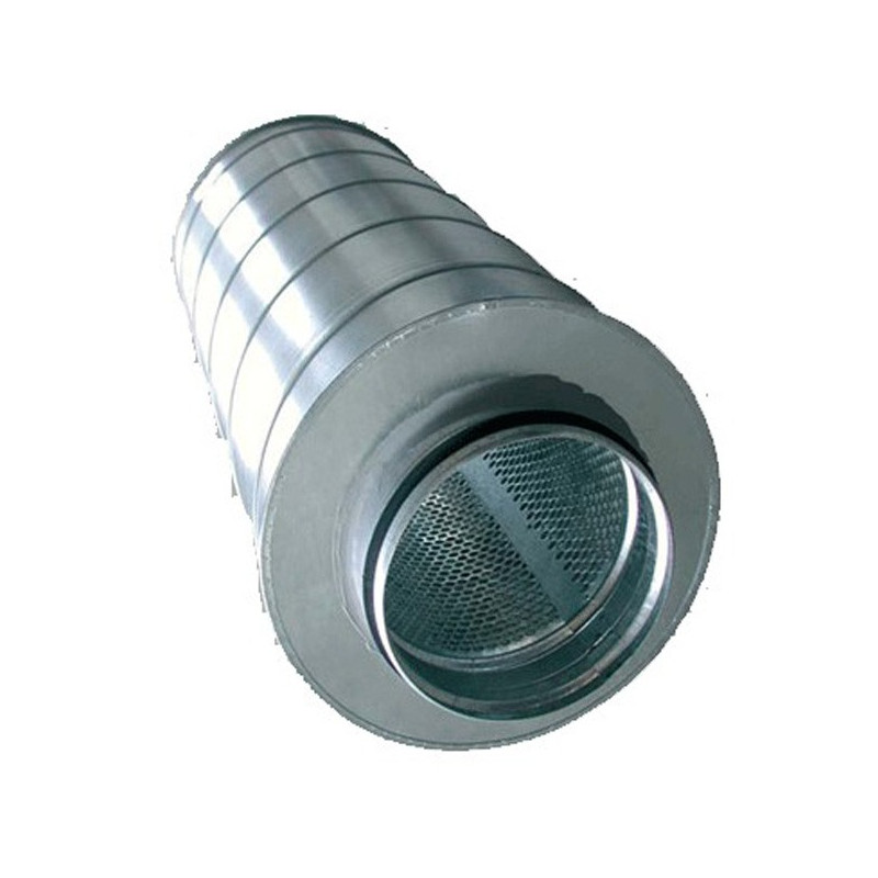 Silencieux conduit de ventilation métal 125/600mm