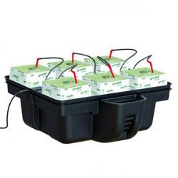 Platinium Hydroponics - HydroStone 60 (6 plantes) 60x60x26,5cm , système hydroponique drip