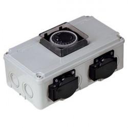 DAVIN DV12 Timer Relais 2x Lampes 600W (max)