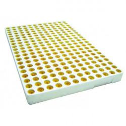 Plaque de culture polystyrène germination,bouturage 240 bouchons de laine de roche Grodan