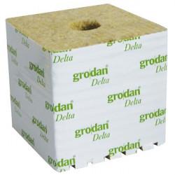 GRODAN CUBES LAINE DE ROCHE 150X150X142 Ø40/40MM BOX48PCS