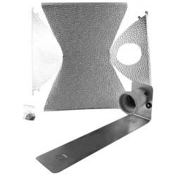 Réflecteur en kit pour éclairage HPS ou CFL 32 x 25 x 12 cm , ,douille E40, pour hps ou mh 150 à 600w