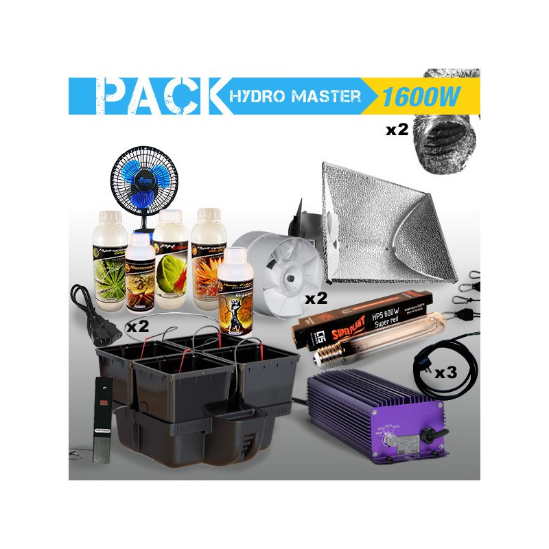 PACK culture indoor hydroponique HYDRO MASTER 1 600W