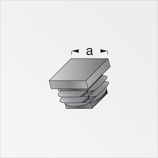 2 embouts carr s pe noir pour tube alu et pvc cis - Chambre de culture 80x80x180 ...